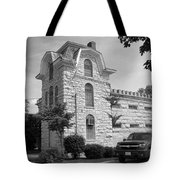 Route 66 - Macoupin County Jail Tote Bag by Frank Romeo