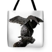 Seraph Angel A Religious Bronze Sculpture By Adam Long Tote Bag by Adam Long