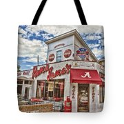Shadow Of The Stadium Tote Bag by Scott Pellegrin