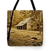 Smoky Mountain Cabin Tote Bag by Frozen in Time Fine Art Photography