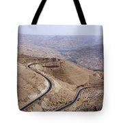 The Kings Highway At Wadi Mujib Jordan Tote Bag by Robert Preston