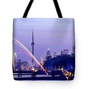 Toronto fireworks Tote Bag by Elena Elisseeva