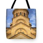 Tsminda Sameba Cathedral Tbilisi Tote Bag by Robert Preston