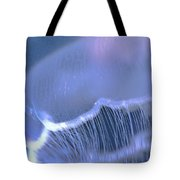 Underwater View Of A Moon Jellyfish Tote Bag by Thomas Kline