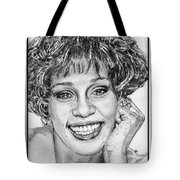 Whitney Houston In 1992 Tote Bag by J McCombie