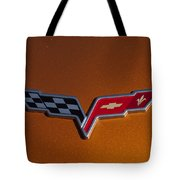 2007 Chevrolet Corvette Indy Pace Car Emblem Tote Bag by Jill Reger