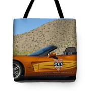 2007 Chevrolet Corvette Indy Pace Car Tote Bag by Jill Reger