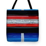 2011 Dodge Challenger Rt Hemi Taillight Emblem Tote Bag by Jill Reger