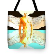 24x36 Reflective Angel Bb Tote Bag by Dia T