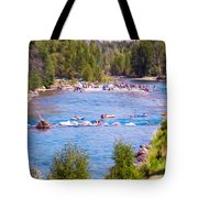 25th Annual Winthrop Rhythm And Blues Festival Tote Bag by Omaste Witkowski