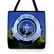 1965 Shelby Prototype Ford Mustang Emblem Tote Bag by Jill Reger