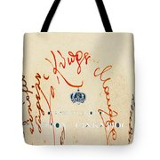 Archbishop Makarios  Autograph Tote Bag by Augusta Stylianou