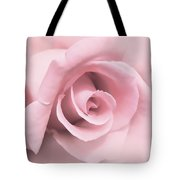Blushing Pink Rose Flower Tote Bag by Jennie Marie Schell