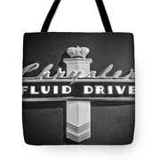 Chrysler Fluid Drive Emblem Tote Bag by Jill Reger