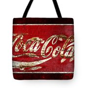 Coca Cola Sign Cracked Paint Tote Bag by John Stephens
