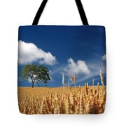 Fields of Grain Tote Bag by Mountain Dreams