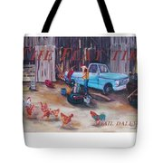 Flat Tire Tote Bag by Gail Daley