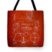 Folding School Globe Patent Drawing From 1887 Tote Bag by Aged Pixel