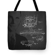 Henry Ford Engine Patent Drawing From 1928 Tote Bag by Aged Pixel
