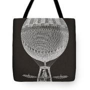 Hot Air Balloon Tote Bag by Aged Pixel