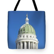 Maine State Capitol Building In Augusta Tote Bag by Keith Webber Jr