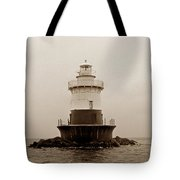 Old Orchard Lighthouse Tote Bag by Skip Willits
