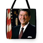 President Ronald Reagan Tote Bag by Official White House Photograph