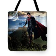 Superman Tote Bag by Marvin Blaine
