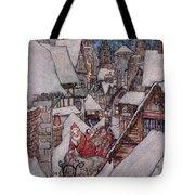 'the Night Before Christmas Tote Bag by Arthur Rackham