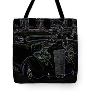 35 Ford Coupe Neon Glow Tote Bag by Steve McKinzie
