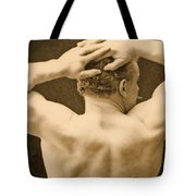 Eugen Sandow Tote Bag by George Steckel