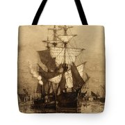 Historic Seaport Schooner Tote Bag by John Stephens