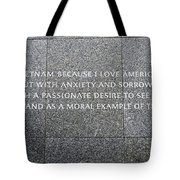 Martin Luther King Jr Memorial Tote Bag by Allen Beatty