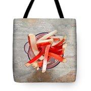 Rhubarb Tote Bag by Tom Gowanlock