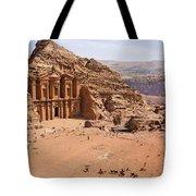 The Monastery at Petra in Jordan Tote Bag by Robert Preston