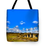 #18 At Chambers Bay Golf Course  Tote Bag by David Patterson