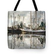 Bayou LaBatre' AL Shrimp Boat Reflections Tote Bag by Jay Blackburn