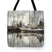 Bayou Labatre' Al Shrimp Boat Reflections Tote Bag by Jay Blackburn