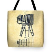 Photographic Camera Patent Drawing from 1885 Tote Bag by Aged Pixel
