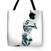 56 Joe Dimaggio Tote Bag by Iconic Images Art Gallery David Pucciarelli