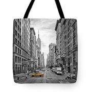 5th Avenue Yellow Cab - Nyc Tote Bag by Melanie Viola
