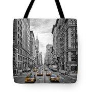 5th Avenue Yellow Cabs - NYC Tote Bag by Melanie Viola