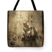Blame It On The Rum Schooner Tote Bag by John Stephens