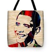 Barack Obama Tote Bag by Marvin Blaine