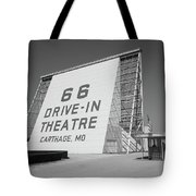 Route 66 - Drive-in Theatre Tote Bag by Frank Romeo