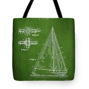 Sailboat Patent Drawing From 1938 Tote Bag by Aged Pixel