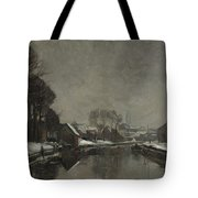 A Belgian Town In Winter Tote Bag by Albert Baertsoen