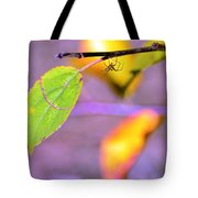 A Branch With Leaves Tote Bag by Toppart Sweden