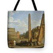 A Capriccio View Of Roman Ruins, 1737 Tote Bag by Giovanni Paolo Pannini or Panini