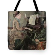 A Captive Audience Tote Bag by Frederic Samuel Cordey